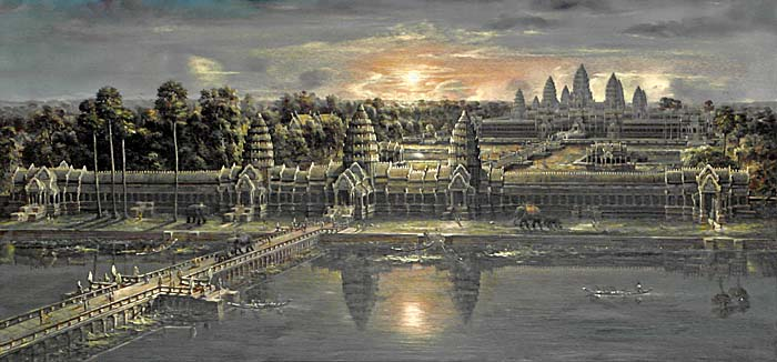 Image result for angkor paintings